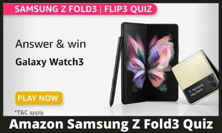 Amazon Samsung Z Fold3 Quiz