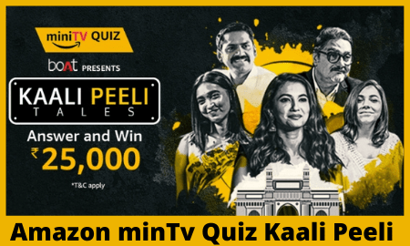Amazon minTv Quiz Kaali Peeli
